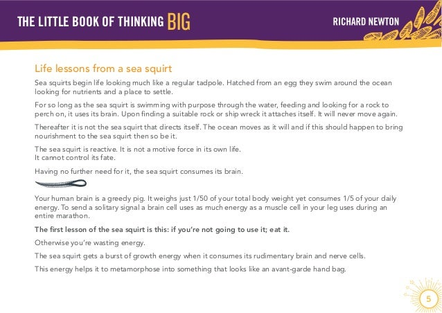 think big essay
