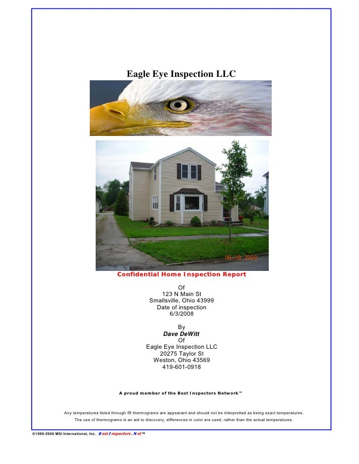 Eagle Eye Inspection LLC                                             Confidential Home Inspection Report                  ...