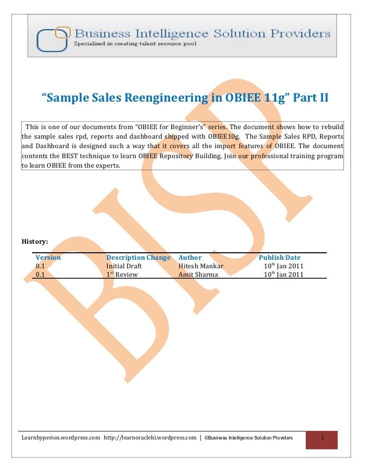 Sample sales reengineering in obiee 11g  part ii