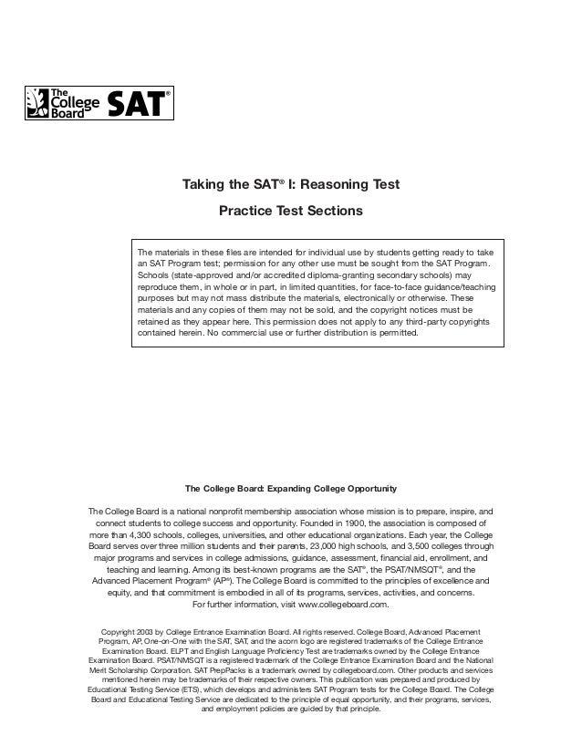 Sat Essay Examples