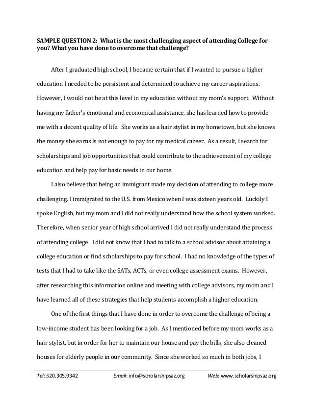 Sample Personal Statements For Scholarships Essay - image 10