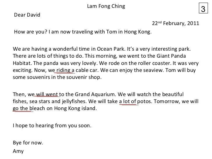 <ul><li>Lam Fong Ching </li></ul><ul><li> Dear David </li></ul><ul><li>22 nd  February, 2011 </li></ul><ul><li> How are ...