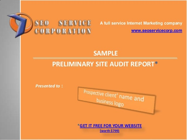 Sample SEO website audit report