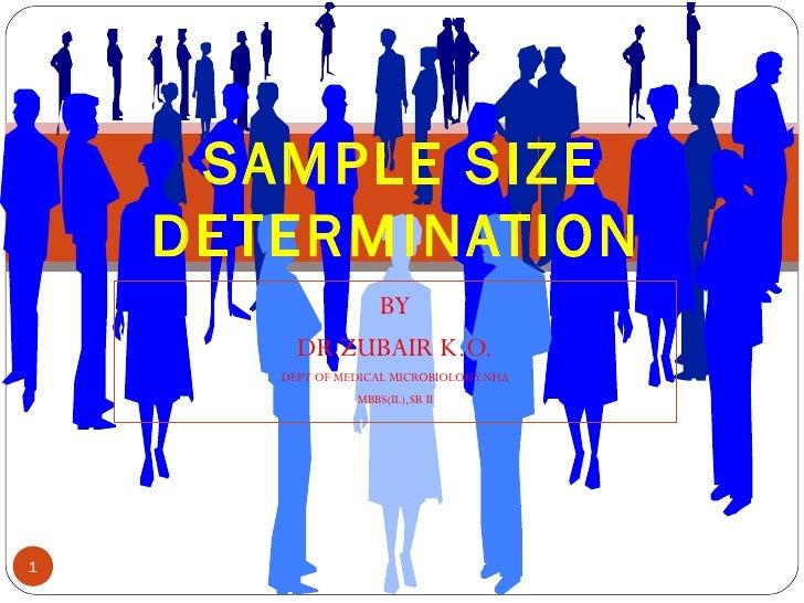 Sample size