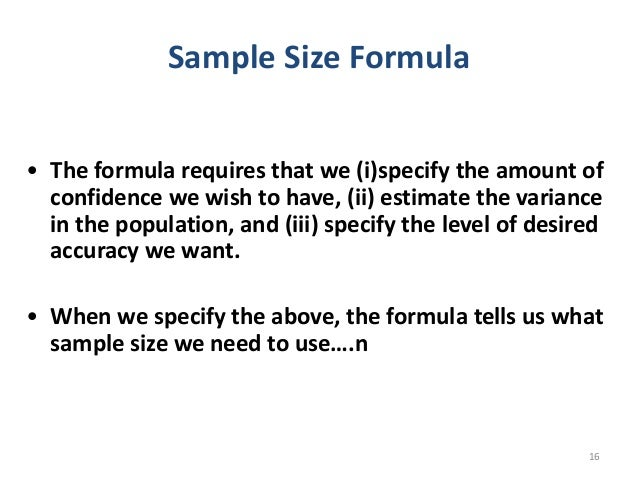 sample size formula thesis