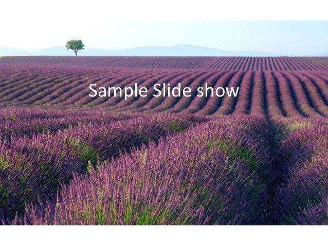 Sample Slide show
