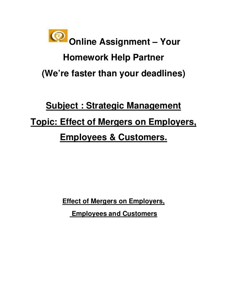 Online Assignment – Your       Homework Help Partner  (We're faster than your deadlines)   Subject : Strategic ManagementT...