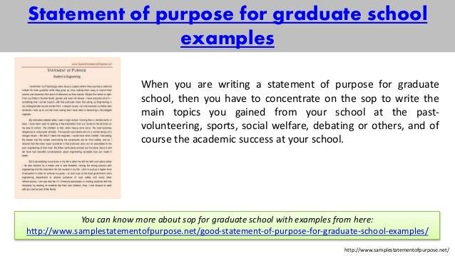 Statement of purpose for Grad school...?