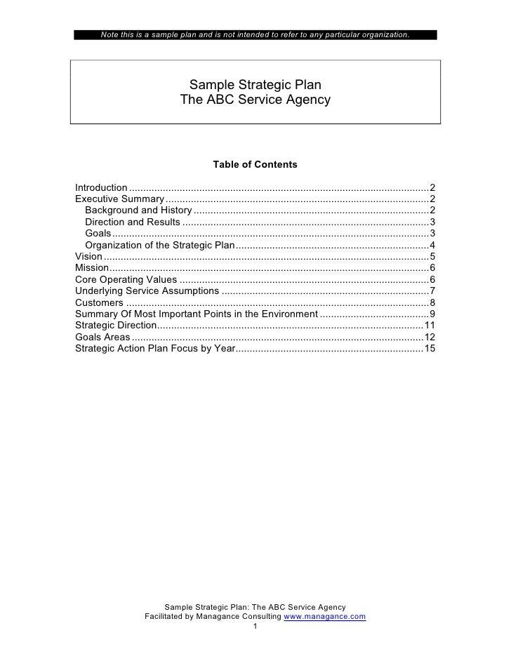strategicplan serviceagency