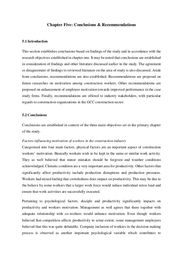 dissertation chapter 5 conclusion 130 chapter 5: discussion as an aide to the reader the final chapter of this dissertation provides a brief overview of the study, including a statement of the problem and the major methods involved.