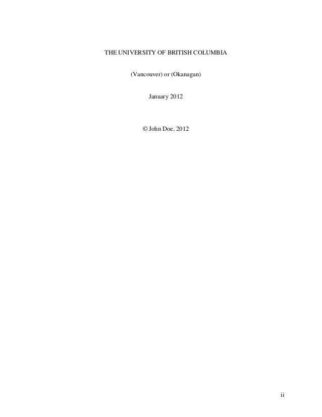 Ubc thesis