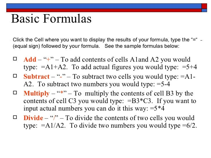 ms powerpoint 2007 tutorial pdf with formulas