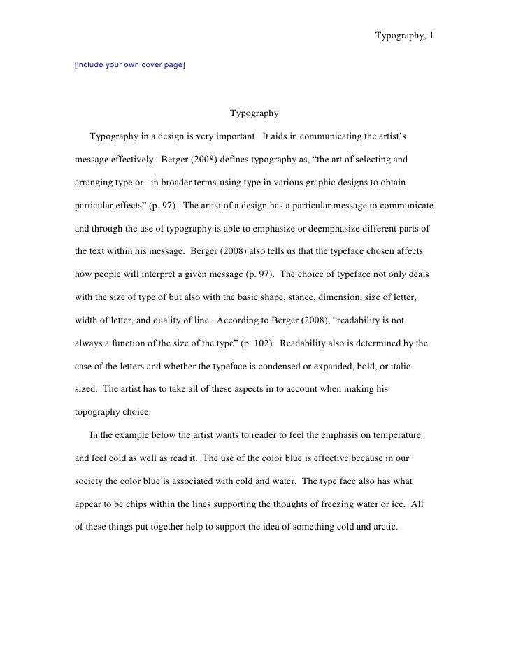 Sample Typography Essay Cgd 218