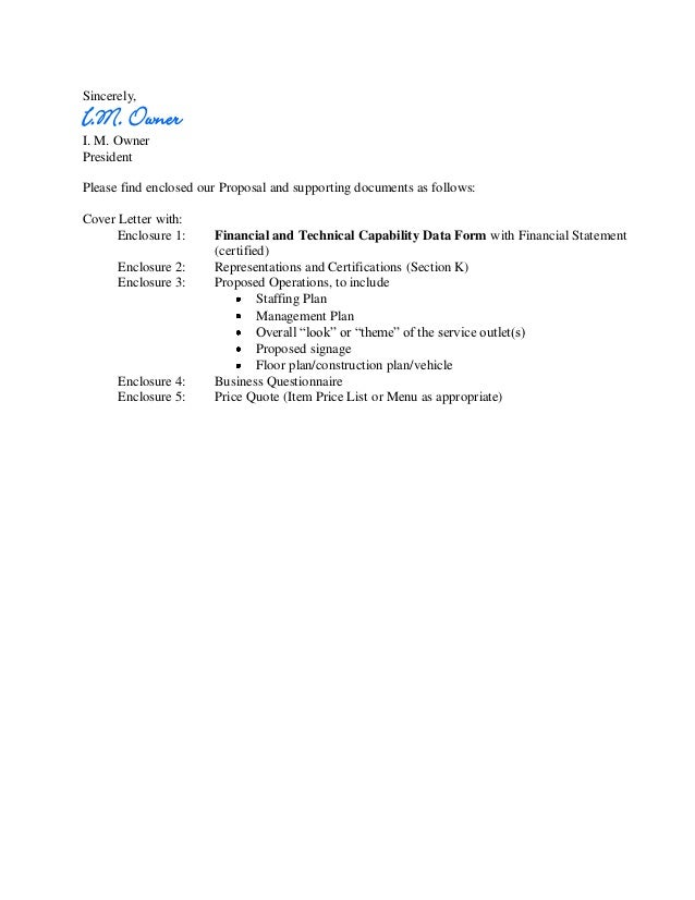 unsolicited business proposal cover letter