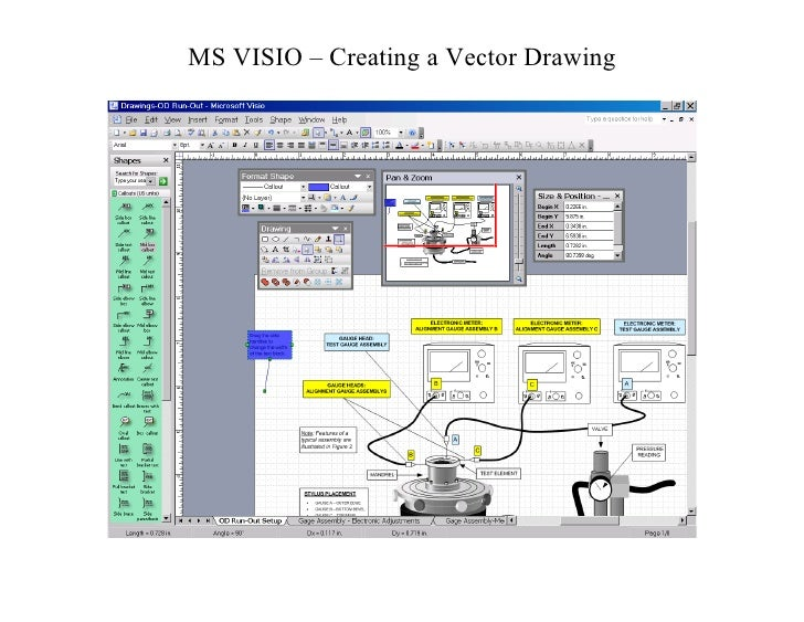 MS VISIO – Creating a Vector Drawing