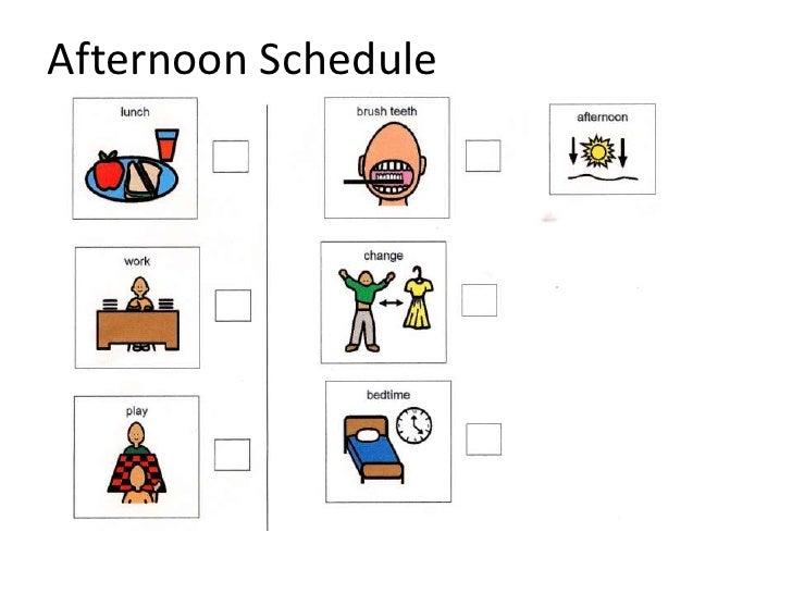 Sample visual schedule
