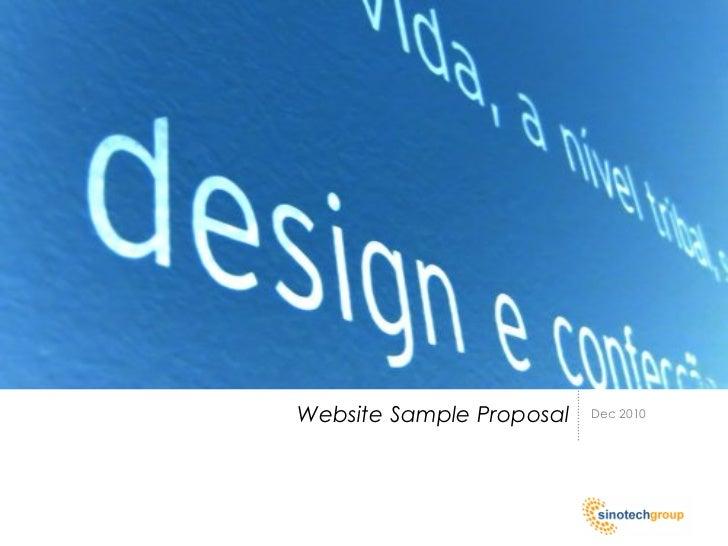 Website Sample Proposal   Dec 2010