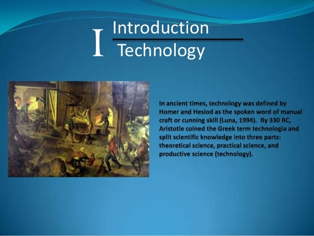 I  Introduction Technology
