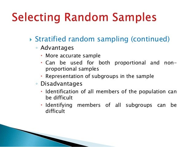 random sampling thesis Chapter 5 choosing the type of probability sampling 127 three techniques are typically used in carrying out step 6: the lottery method, a table of random numbers, and.