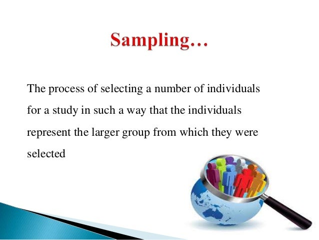 Sampling techniques in research methods