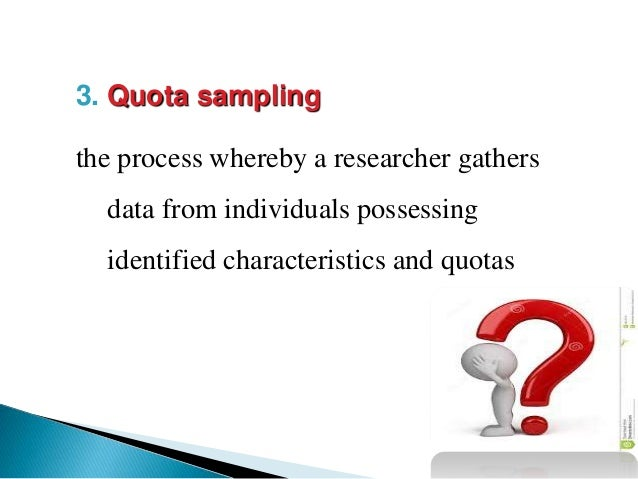 what is quota sampling in research