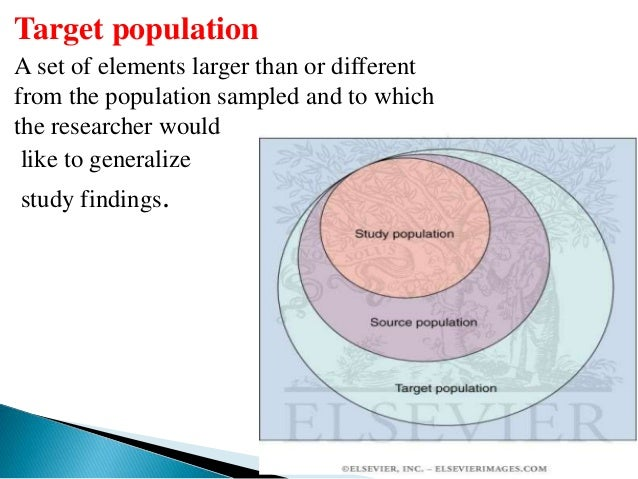 research population 1 target population: the group of people to whom we want our research results to apply study population: the people who meet our.