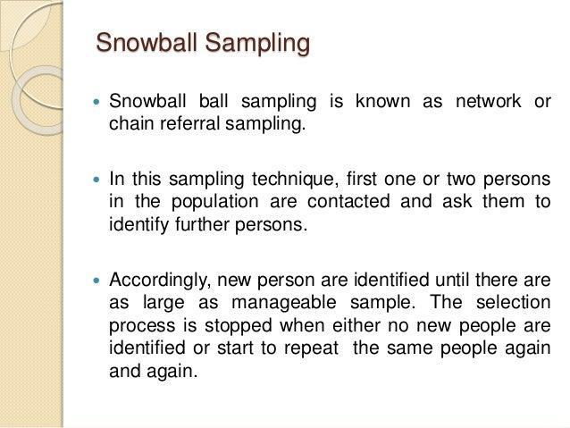 example of snowball sampling pdf