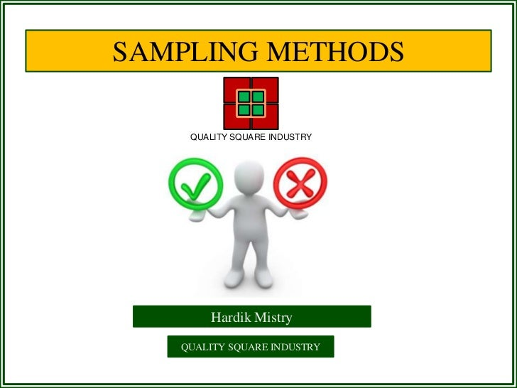 different types of sampling methods in research