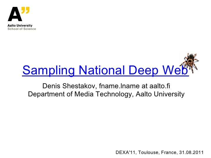 Sampling national deep Web