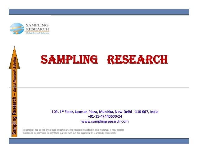 SAMPLING RESEARCH    pling Research – Glob Research Solution                        bal        S                          ...