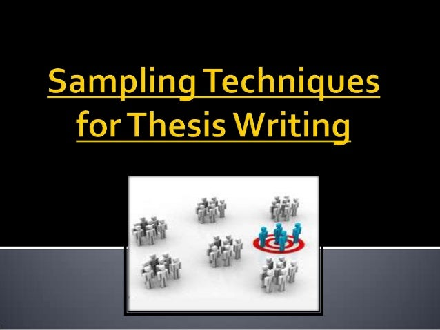 thesis sampling techniques