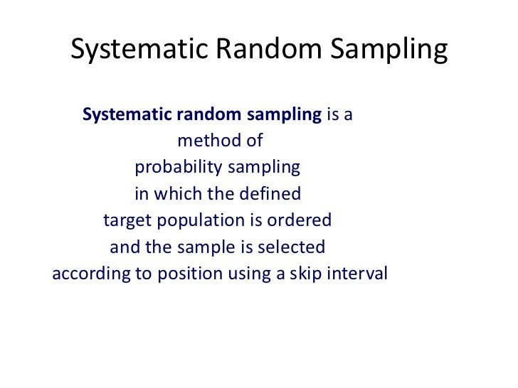 sampling methods in market research Sampling is an effective way of obtaining opinions from a wide range of people, selected from a specific group, in a bid to find out more about a whole group in general as a market research tool for entrepreneurs and start-ups looking to better understand their target market or research the potential for new business ideas,.