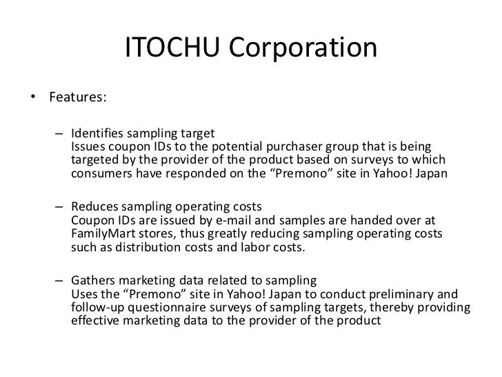 sampling in marketing research Keywords: sampling market research population sample sampling strategy probability sampling non-probability sampling in statistical language, sampling is choosing the portion or subset of a population a population is the entire group of objects having characteristics of interest under study.