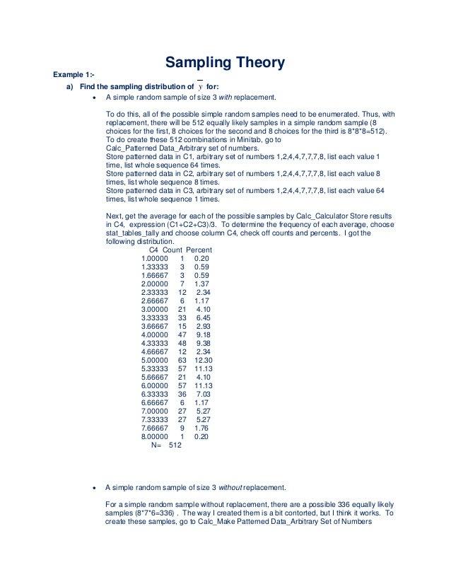 Sampling Theory Homework Help
