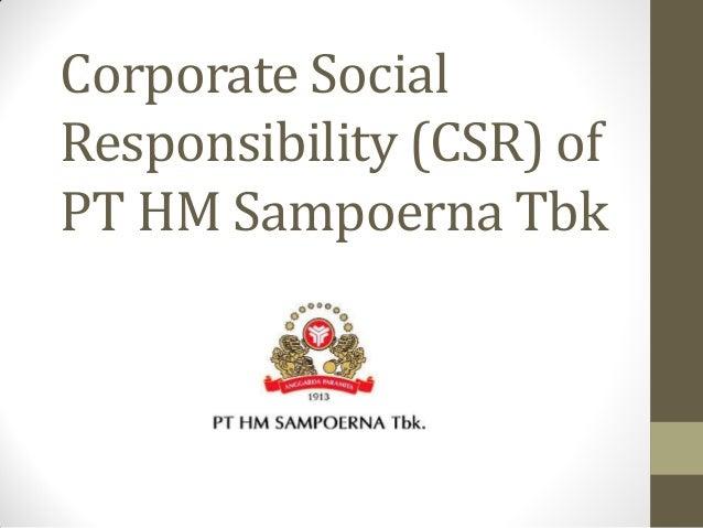 Corporate Social Responsibility (CSR) of PT HM Sampoerna Tbk