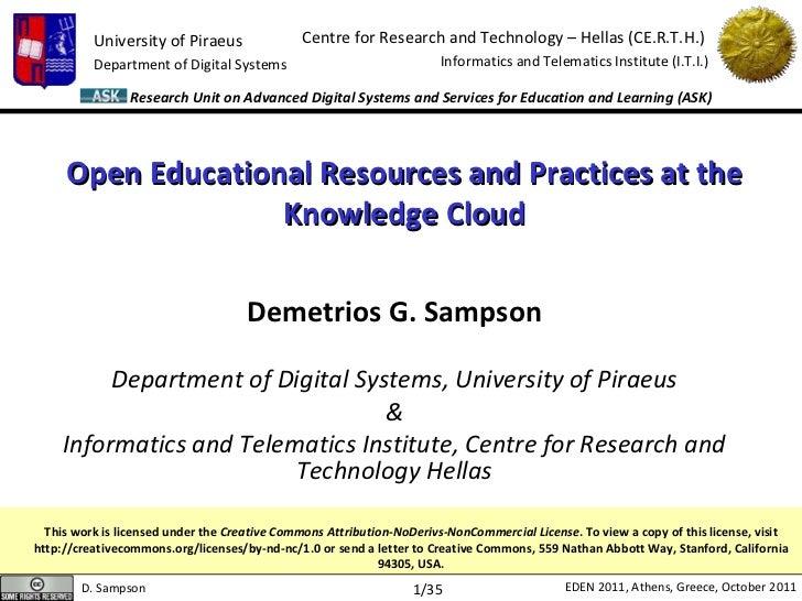 OCC2011 Keynotes: Demetrios G. Sampson