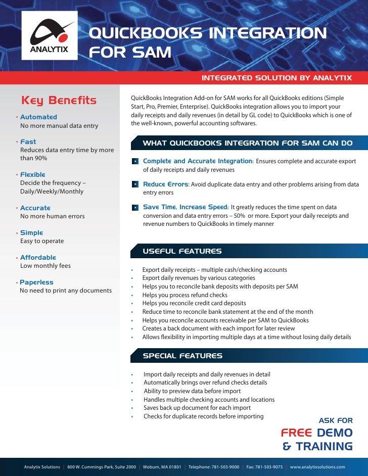 Sports Application Management, SAM QuickBooks Integration services