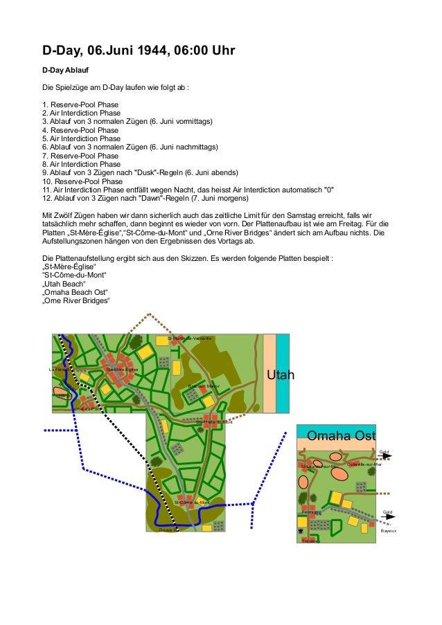D-Day, 06.Juni 1944, 06:00 Uhr D-Day Ablauf Die Spielzüge am D-Day laufen wie folgt ab : 1. Reserve-Pool Phase 2. Air Inte...