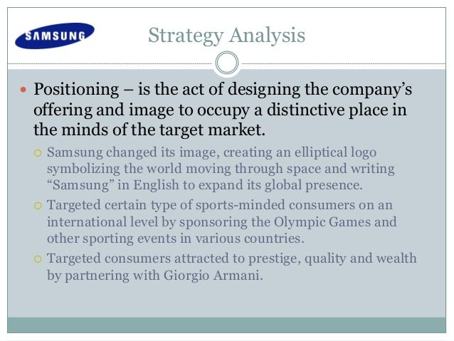 samsung competitive strategy At samsung strategy and innovation center, we discover and develop technologies to help people all over the world lead happier, healthier, richer lives.