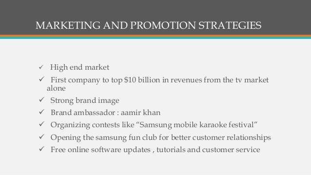marketing communication plan of samsung television Samsung is a massive channels of distribution crucial to success samsung director of channel marketing at samsung's enterprise.
