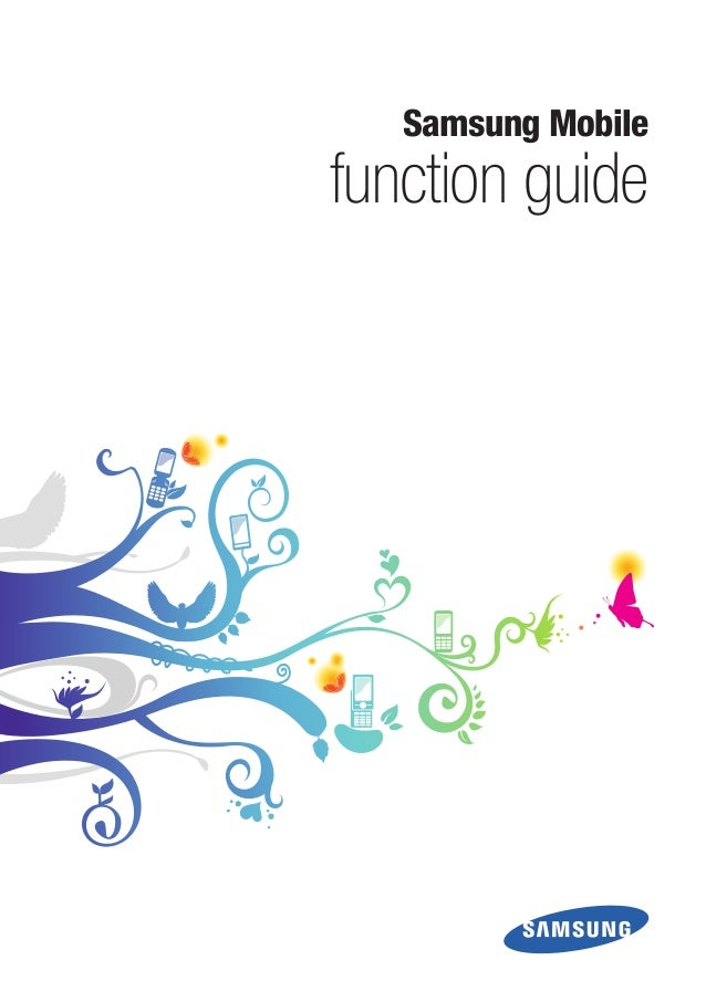 Samsung Mobile function guide