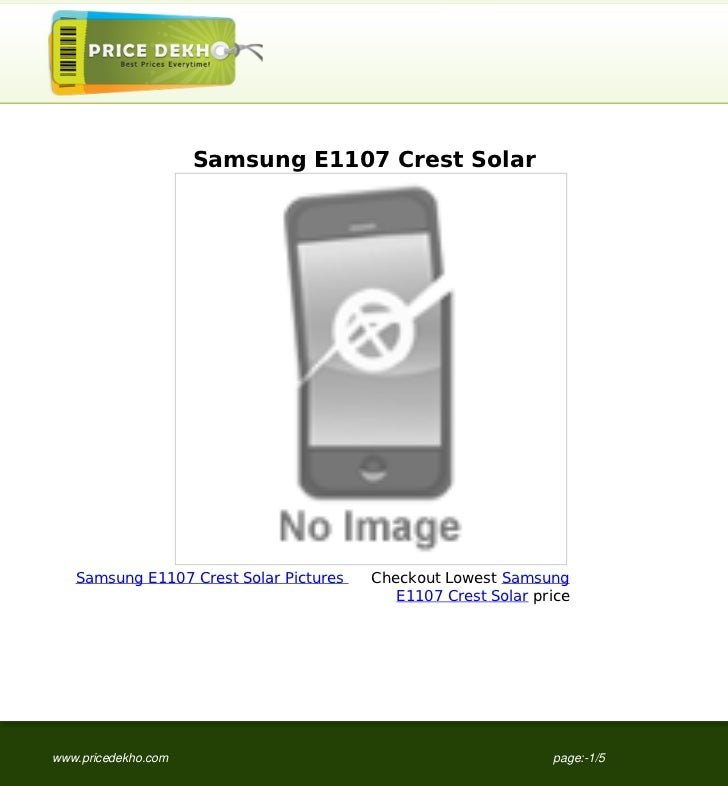 Samsung E1107 Crest Solar   Samsung E1107 Crest Solar Pictures   Checkout Lowest Samsung                                  ...