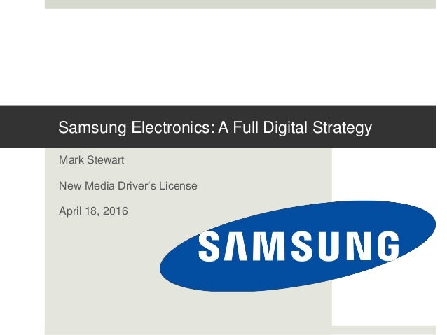 Samsung electronics diversification strategy