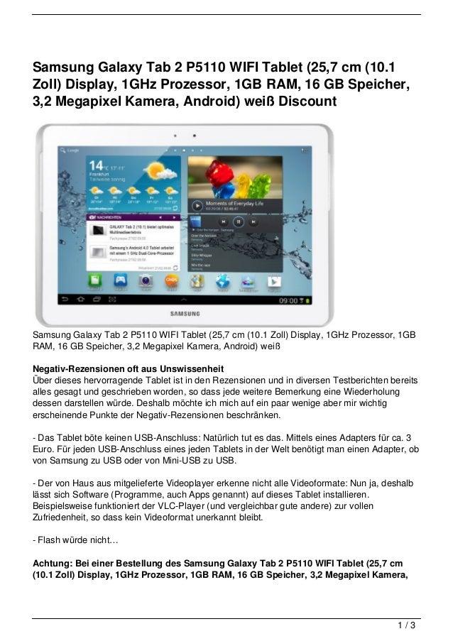 samsung galaxy tab 2 p5110 wifi tablet 25 7 cm 10 1 zoll display. Black Bedroom Furniture Sets. Home Design Ideas
