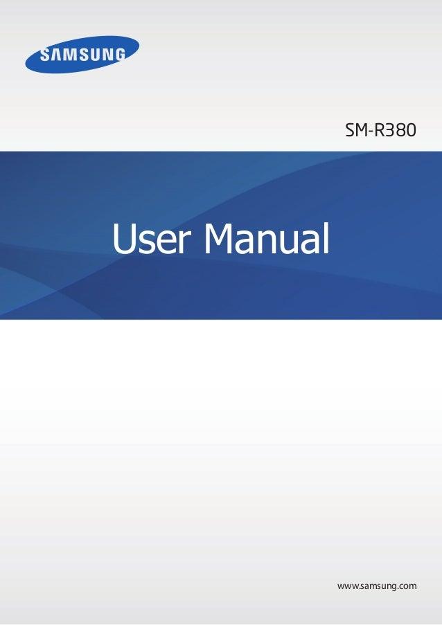 www.samsung.com User Manual SM-R380