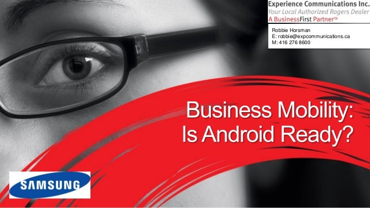 Android Tablet for Business