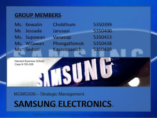 samsung electronics case analysis According to the swot analysis of samsung samsung electronics co limited (otc: ssnlf) is actually the consumer electronics subsidiary of the samsung group.
