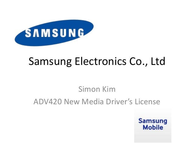 analysis of samsung electronics co ltd