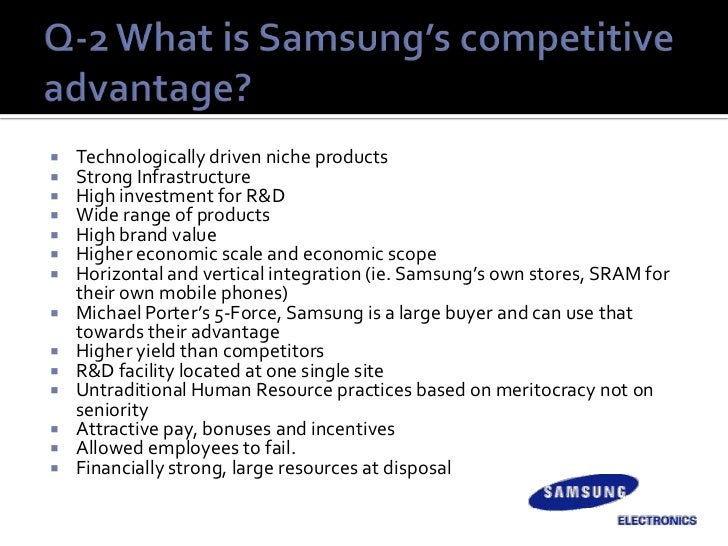 case study of samsung electronics Samsung electronics was a producer of low-end consumer electronics goods kun hee lee merged the two companies first semiconductor produced was the watch chip, used in wristwatches.