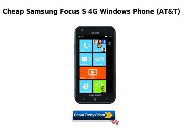 cheap samsung focus s 4g windows phone at t